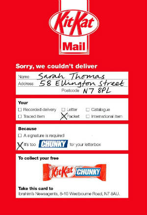 Kit Kat Chunky Direct Mail Example