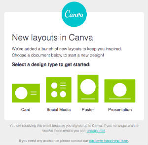 Canva Email Marketing Example