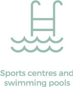 sports centres and swimming pools