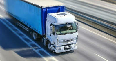 Lorry with vehicle tracking